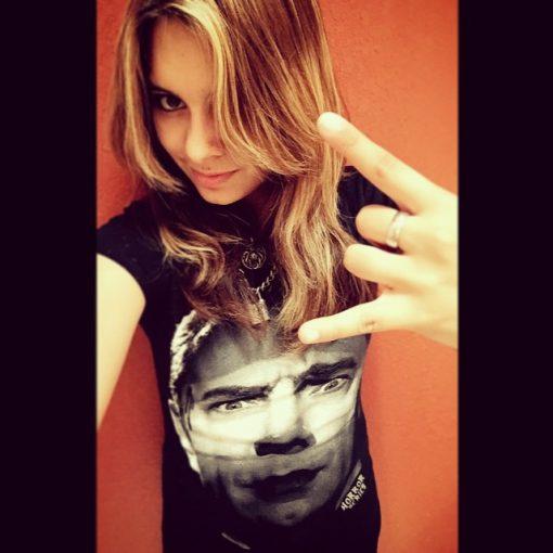 K in Dracula T-shirt