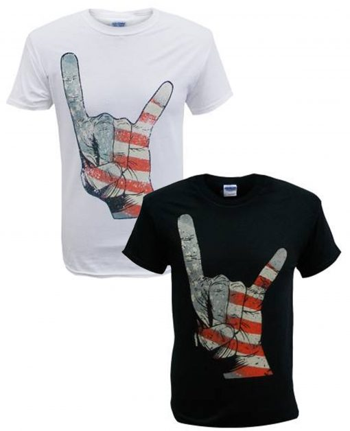 Men's America BLK and WHT