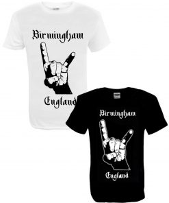 Men's Birmingham England BLK and WHT T