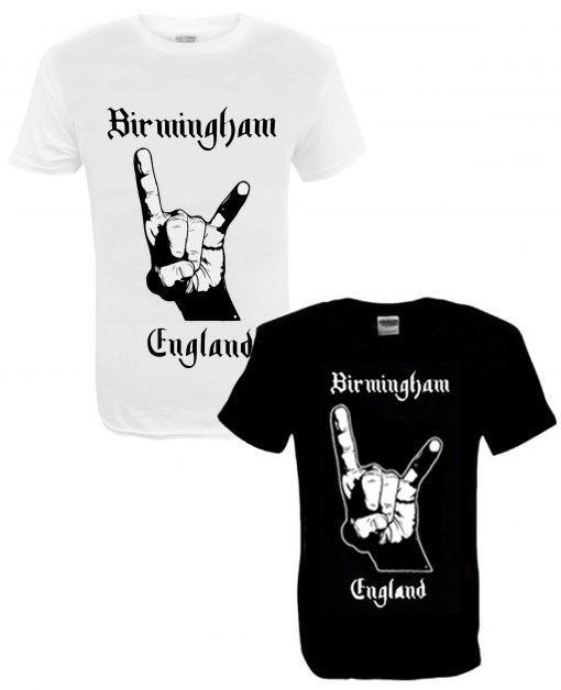 Men's Birmingham England BLK and WHT T