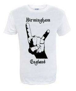 Men's Birmingham England WHT T