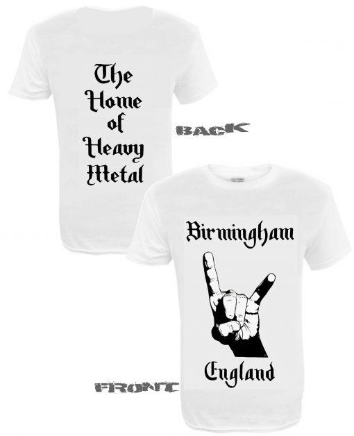 Men's Birmingham England WHT front and back
