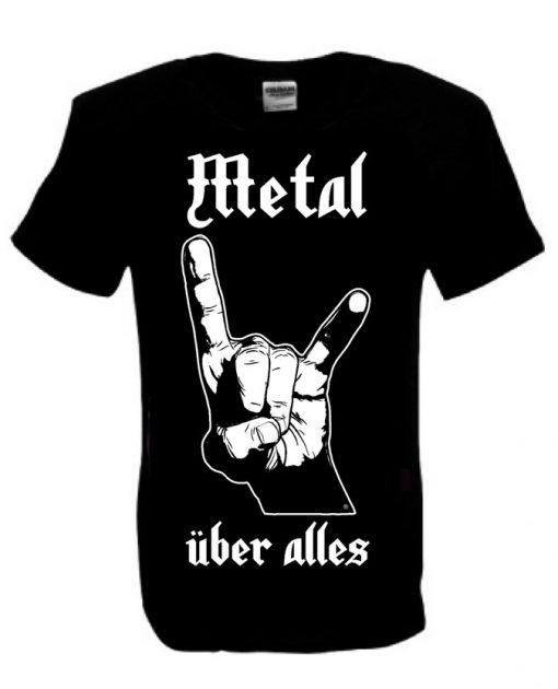 Men's Metal Uber Alles black T