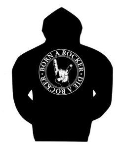 Born a Rocker Die a Rocker zipped hoodie